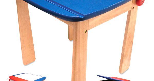 Tavolo da disegno con rotolo carta e cassetto in legno per la cameretta dei bambini 2a i 39 m toy - Tavolo da disegno ikea ...