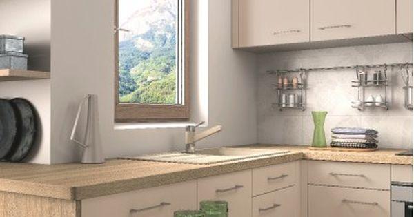 cuisine avec plan de travail en bois et tiroir table cuisine blanche pinterest plans de. Black Bedroom Furniture Sets. Home Design Ideas