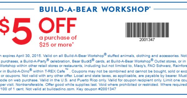 Build A Bear Coupon  Off