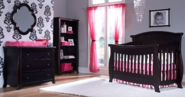 Love the wall and black and pink for mercedes room as she for Black and pink furniture