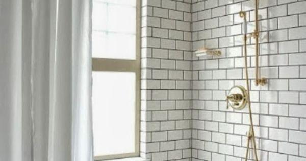 Azulejo blanco lechada negra y grifer a dorada ba os for Lechada azulejos bano