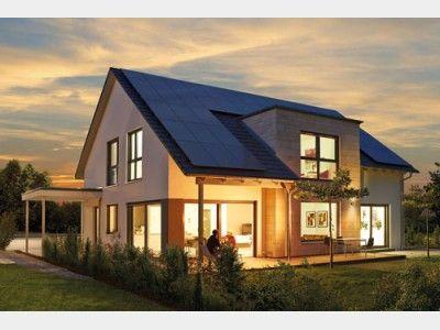 Aussenansicht einfamilienhaus modern pinterest for Einfamilienhaus modern mit satteldach