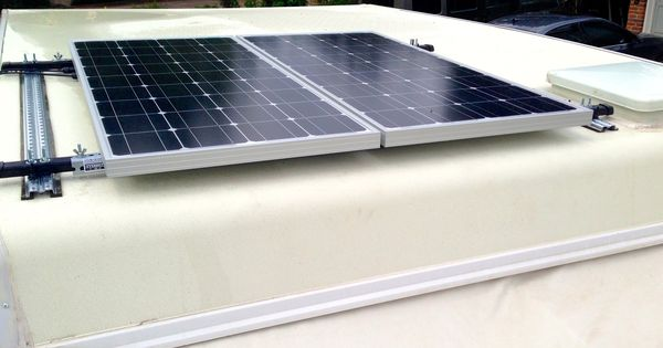 200 Watts Of Solar Panels On Our Pop Up Camper Runs A
