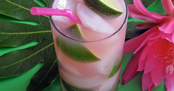 "Ultimate Summer Cocktail- Tickled Pink Tropical Island ""Iced Tea"""