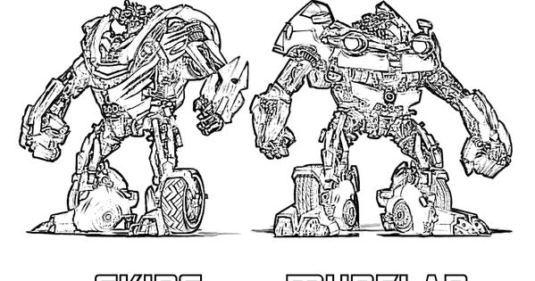 Skids Transformers ECE Coloring Activity Sheet