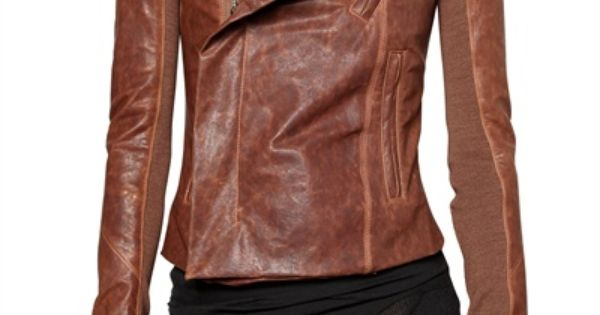 Rick Owens Leather Jacket would like this in my closet!