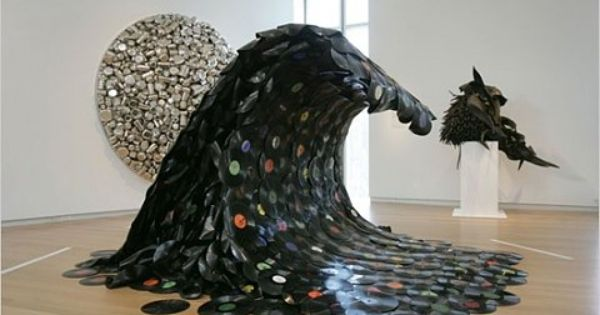 sound wave made from old records