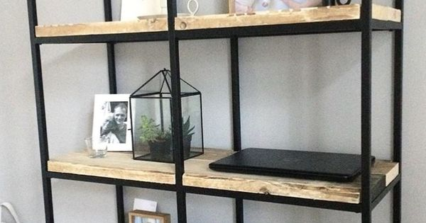Stellingkast Metaal En Hout.Ikea Vittsjo Stellingkast Wonen Pinterest Ruw Hout Of Karwei