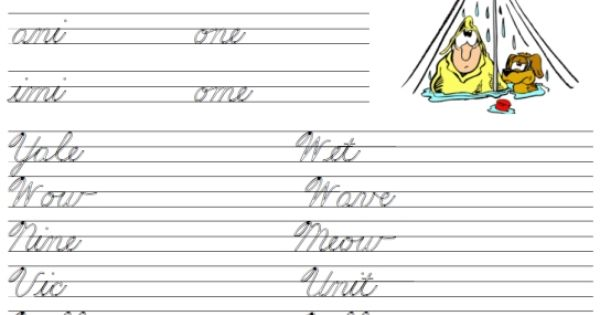beginners cursive how to connect