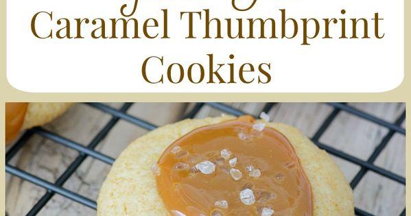 Thumbprint cookies, Caramel and Gluten free on Pinterest