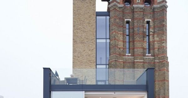 Transforming an old London water tower into a modern home