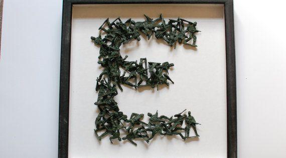 Custom Army Men Figurine Monogram