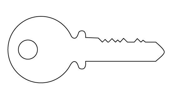 Crush image inside key template printable