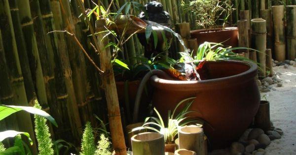 Un mur naturel de bambou et une fontaine diy en bambou for Fontaine bambou exterieur