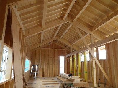 現場日記 構造用合板 構造 切妻屋根