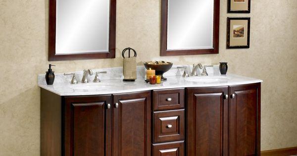 Fairmont Designs 72 Town Country Curved Front Double Vanity Espresso Bathroom Vanities