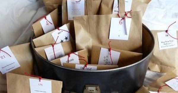 Des calendriers de lavent à faire soi-même  Kraft Bag, Advent ...