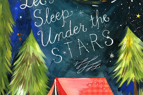 boys room print - Let's Sleep Under the Stars