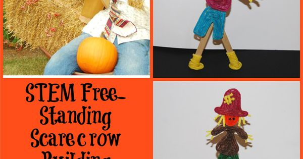 stem education free standing scarecrow building challenge for kids halloween stemeducation. Black Bedroom Furniture Sets. Home Design Ideas
