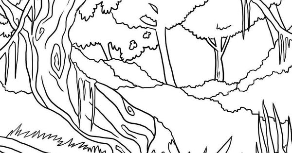 jungle background coloring pages - photo#18
