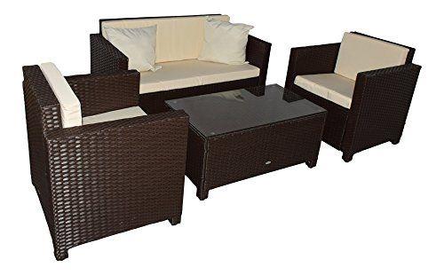 Garden Furniture Set Cannes Brown Rattan Muebles De Jardin