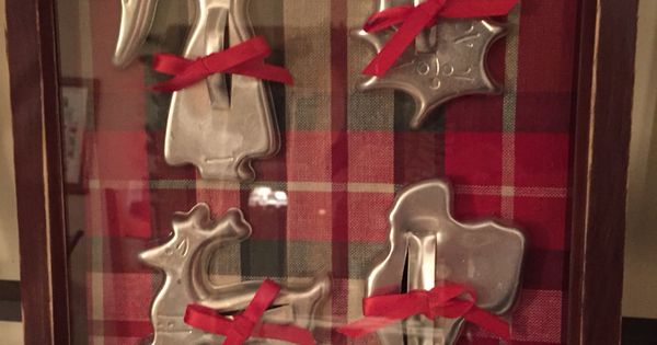 Vintage cookie cutter display | Christmas Crafts Completed ...