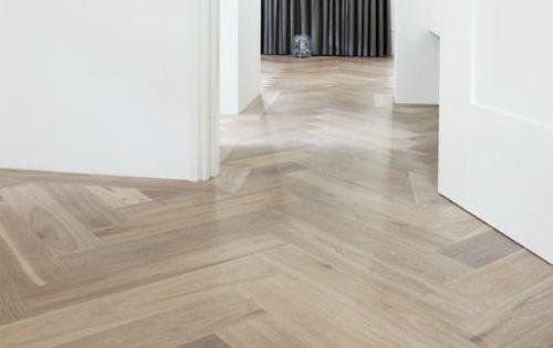 Visgraat vloer leggen home sweet home pinterest - Betegeld wit parket effect ...