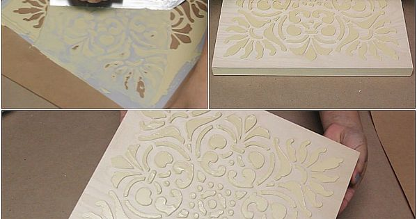 How to Stencil DIY Terracotta Wall Art Tiles with Chalk Paint Tutorial
