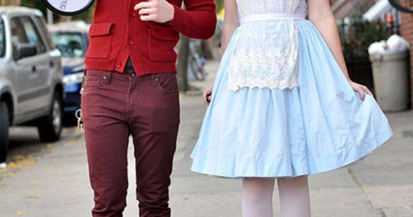 I love this Alice in Wonderland costume idea!