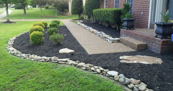 Front Yard Decor With River Slicks Decorative Rocks Next