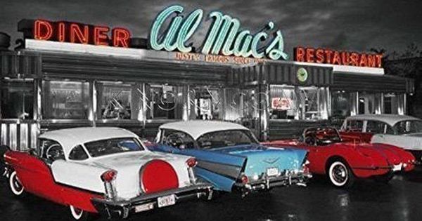 American Diner Poster Retro 50s 57 Chevy 1957 Chevrolet 1950s Wall