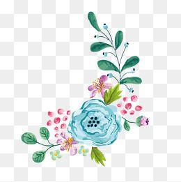 Pin De Sara Em Flores Beira Floral Flor Aquarela Clipart De Flores