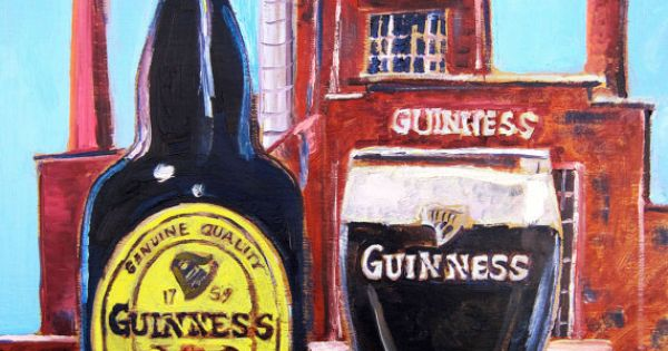 Man Cave Gifts Ireland : Guinness beer painting gift for son dining