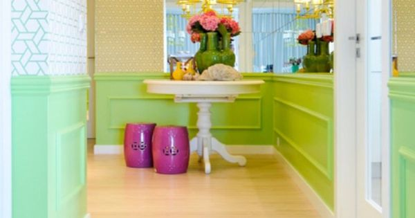 Bright Foyer Colors : Bright green entryway i love colors used in homes