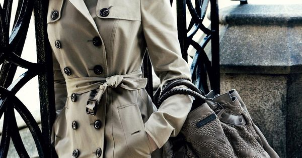 Style Icon Emma Watson wearing Burberry Trench Coat.