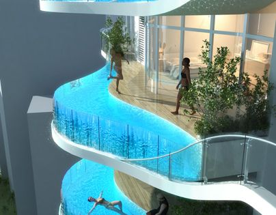 SO COOL! A 37-story residential skyscraper in Mumbai, India, called the Aquaria