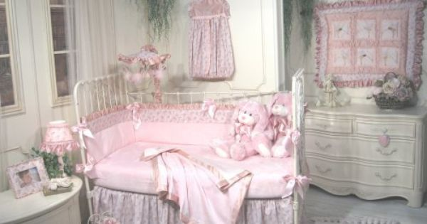 Jessica Mcclintock Baby Fairy Dust 5 Piece Crib Set Pink And