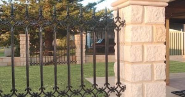 Block And Iron Fencing More Information About Wrought Iron Wrought Iron Fences Iron Fence Iron Railing