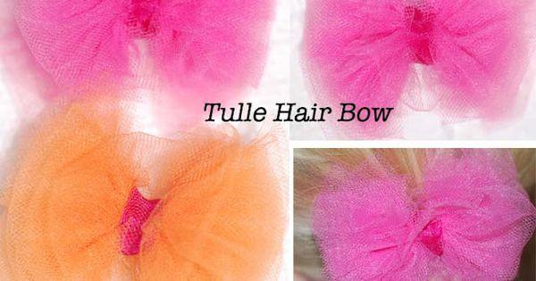Tulle Hair Bows