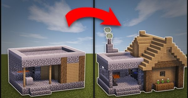 Minecraft How To Remodel A Village Small House Youtube Minecraft Crafts Minecraft Creations Minecraft Houses