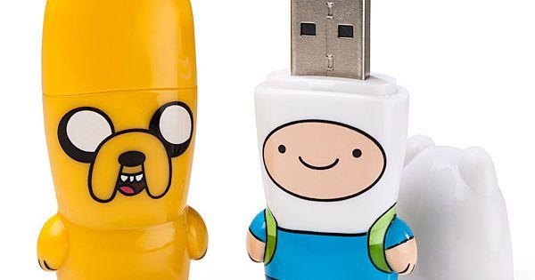 #ThinkGeek ThinkGeek Adventure Time Mimobot Thumb Drives Adventure Time Mimobot Thumb Drives