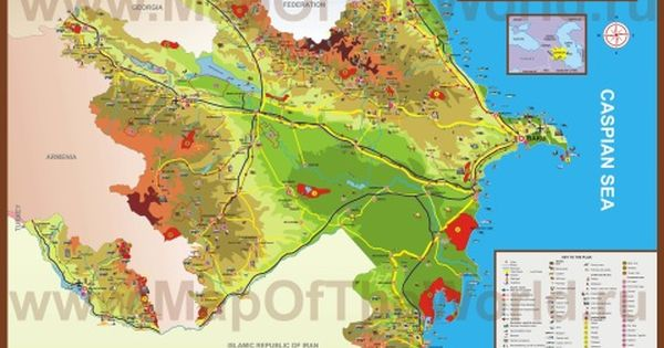 Podrobnaya Turisticheskaya Karta Azerbajdzhana Karta Audioknigi Turizm