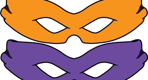 Free teenage mutant ninja turtles party printables for Tortoise mask template