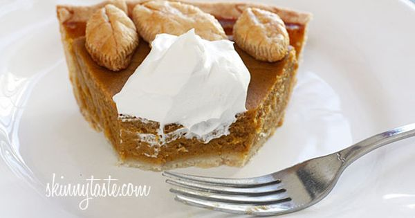 Skinny Pumpkin Pie - the filling is lightened up, but no one