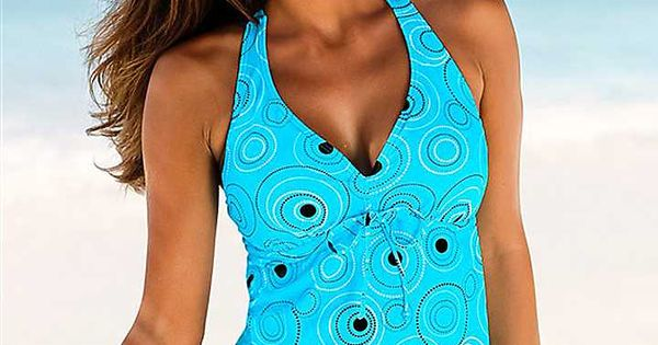 s oliver turquoise print underwired tankini my style. Black Bedroom Furniture Sets. Home Design Ideas
