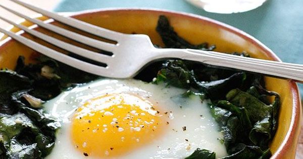 Baked eggs, Vitamin a and Spinach on Pinterest