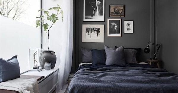 Dormitorio n rdico en tonos oscuros dormitorios for Dormitorio nordico
