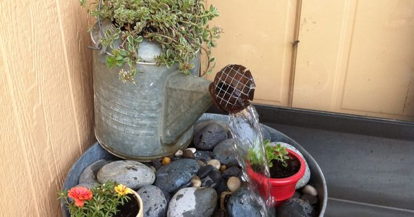 Watering cans, Wash tubs and Water fountains on Pinterest