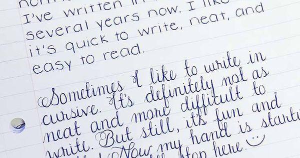 25 Amazing Examples of Perfect Handwriting   Cursive ...