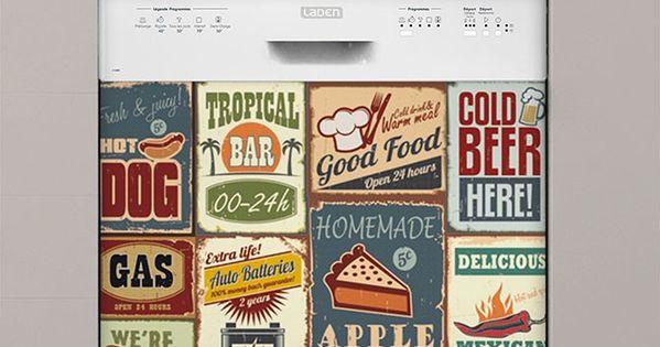 vintage sticker lave vaisselle id e cuisine pinterest. Black Bedroom Furniture Sets. Home Design Ideas